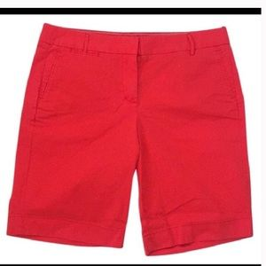 NWT J. Crew cherry red Bermuda shorts Sz 6 $50